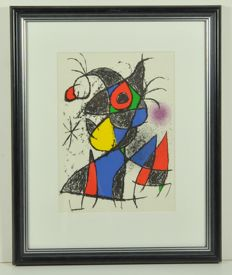 2 x Joan Miró, Plate III from 'Peintures, gouaches, dessins & Cover of 'Peintures, gouaches, dessins'