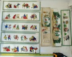 8 glass pictures, Laterna Magica around 1900, extra large (30cm x 8cm)