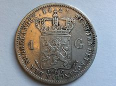 the Netherlands - 1 guilder 1824U (with small dash) Willem I - silver