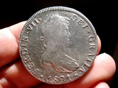 Spain - Fernando VII (1813-1833), 8 reales in silver - 1821.  Mexico. IJ.