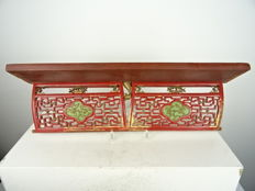 Carved hardwood shelf - China - second half of the 19th century
