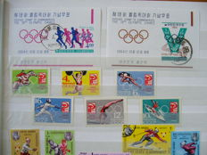 Theme Olympic Games 1960/2006 - batch in 5 stock books and a ring band