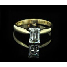 0.50 ct millennium cut diamond - ring size I 1/2
