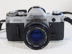 Canon AE 1 with Canon lens 1.8/50 mm