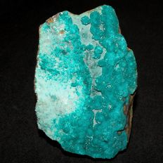 Rare Microcrystals of Dioptase on Chrysocolla and Chalcedony - 80 x 50 x 25 mm - 200,2 g