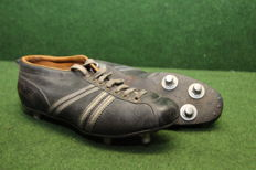 Old decorative football boots from the 1950s