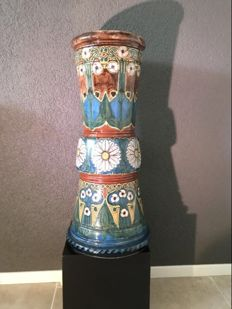 Plateelbakkerij Rozenburg - Polychrome ceramics umbrella stand (60 cm high)