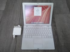 "Apple iBook G4 ""Snow"" 12"" - 1.33Ghz PowerPC G4, 1.5GB RAM, 60GB HDD - with original charger - model nr A1133 - Mid 2005"