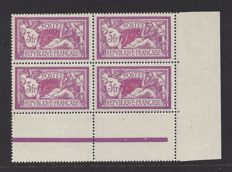France 1927 - 3 francs, type Merson - Yvert 240 in block of 4