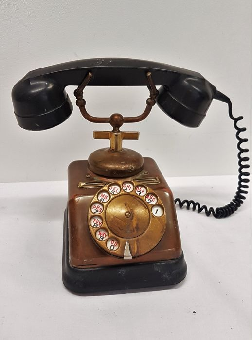 Antique decorative copper telephone