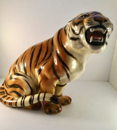 Large Tiger Signed By the Italian Lenci Maestro, Ronzan