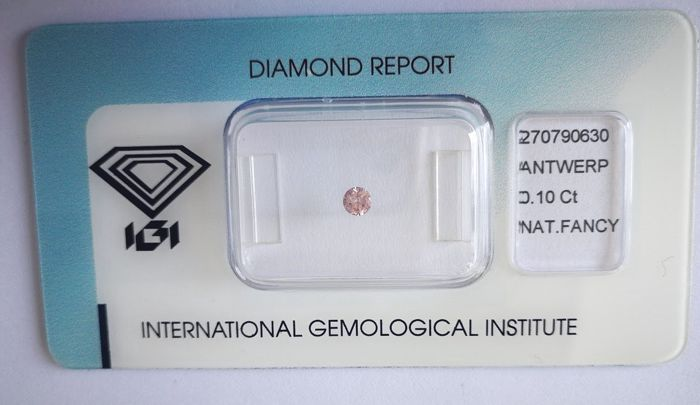 Natural Fancy Purplish Pink Diamond 0.10 ct  with IGI cert