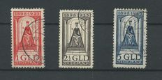 The Netherlands 1923 – Queen's jubilee – NVPH 129, 130, 131 + 131