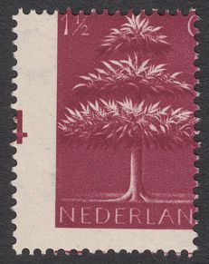 The Netherlands 1943 – Germanic symbols misprint – NVPH 406 with strongly shifted perforation