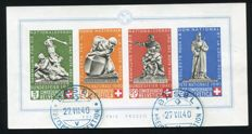Switzerland 1945 - Minisheet Pro Patria - Michel Block 5