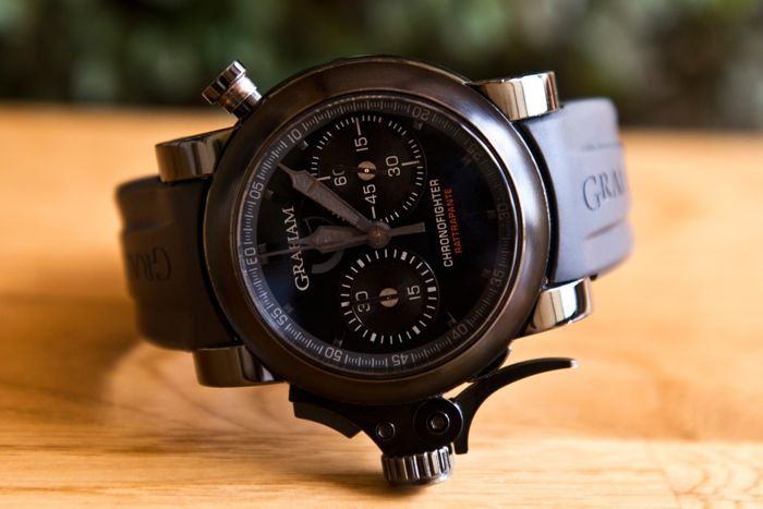 Graham Chronofighter Trigger Back In Black Rattrapante Chronograph - Limited Edition 063/100