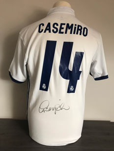 Carlos Casemiro Real Madrid home 16-17 shirt with photo evidence and certificate of authenticity