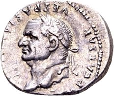 Roman Empire – Vespasian, AD 69-79, silver Denarius minted in Rome, AD 77-78, portrait facing left