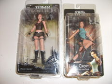Lot 2 figurines Lara Croft Tomb Raider 15cm - Underworld and Tomb Raider Anniversary