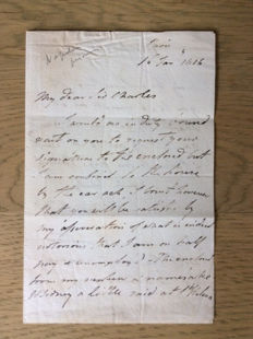Letter Admiral Sidney Smith, dated 1816, '' Napoleon, the genius, is tame in his cage on St. Helena ""