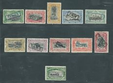 Belgian Congo 1908, OBP TX1 – TX6D surcharge stamps