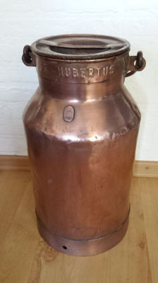 Old copper-plated milk churn, first half of 20th century, Belgium