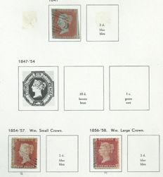 Great Britain – Collection on album pages