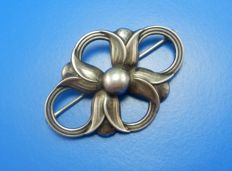Silver rare vintage brooch, signed by Georg Jensen