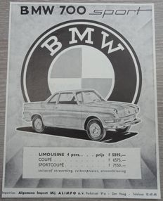 BMW 700 - Lot of 11 Advertisements from 1961 to 1965