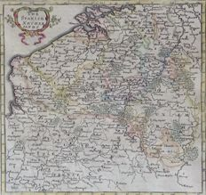 Belgium, Luxembourg; Herman Moll - The Spanish Netherlands - 1701