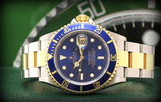 Rolex Submariner Date 16613 Blue – 2005 – Never Polished – Full Set