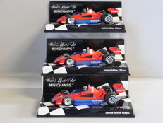 Minichamps - Scale 1/43 - Lot with 3 classic sports car models: 3 x Brabham Alfa Romeo BT45B 1977