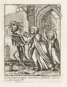 John (Hans) Holbein -  Dances of Death. Through the Various Stages of Human Life: Wherein the Capriciousness of That Tyrant is Exhibited in Forty-Six Copper Plates; Done From the Original Designs, Which Were Cut in Wood, and Afterwards Painted - 1803