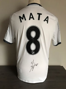 Juan Mata Manchester Utd. Alternative 16-17 shirt with photo evidence and certificate of authenticity