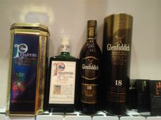 2 bottles - Glenfiddich 18 & Pinwhinnie Royale