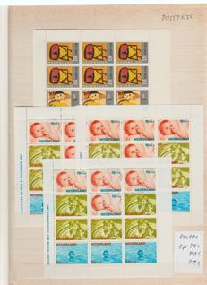 The Netherlands 1965/1995 - Collection of plate flaws on children's sheets
