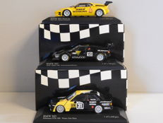 Minichamps - Scale 1/43 - Lot with 3 BMW Models: 2 x BMW M1 & 1 x BMW M3