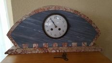 Art Deco marble mantel clock with 8-day movement