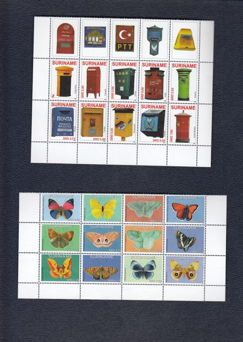 World - stamps, blocks, FDCs and stamp booklets in stock books