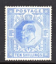 Great Britain, King Edward VII - SG265 10 Shilling Ultramarine