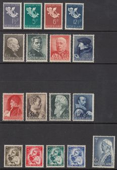 The Netherlands, 1934-1936 – five sets – NVPH 269, 270-283, 274-277, 283-286 and 289-292
