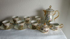 Beautiful Mocha Service for 6 People - Carlsbad Bohemian Porcelain Factory, 50s/60s