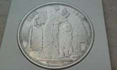 """Belgium – module of 5 franc """"50 Years of Independence 1830-1880"""", Leopold I – silver"""