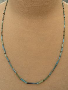 Egyptian necklace with faience beads - 57 cm