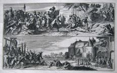 Germany, Bonn; Lambert van den Bosch – 2 copper engravings, no title [Veroveren van Bon] - 1675
