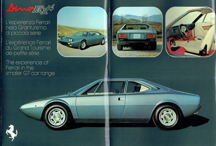 Ferrari Dino 308 GT4 - brochure/portfolio and binder Catalogue de pièces de rechange