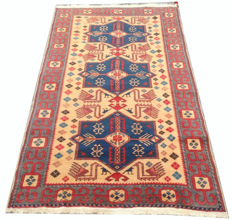 20th Century Turkish Milas  Hand Knotted Area Carpet Rug 179 cm x 97 cm