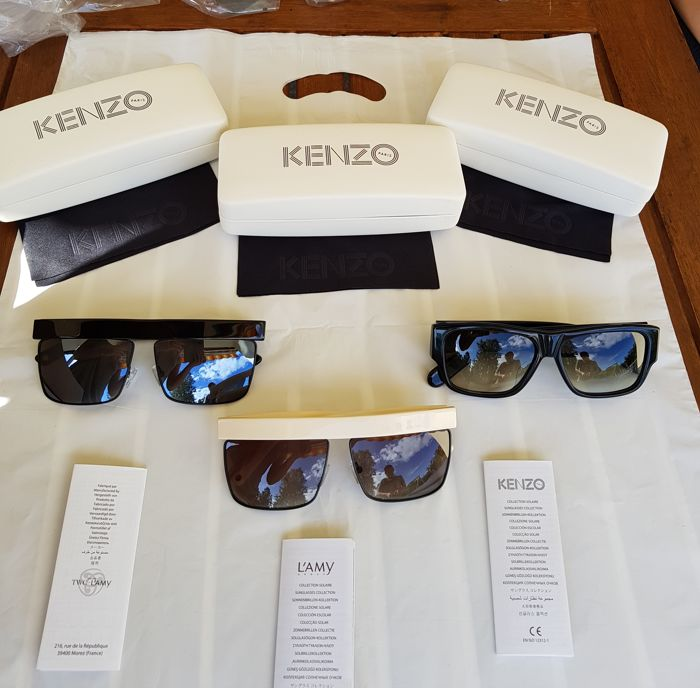 Kenzo - LOT of 3   - New - No Reserve - NeverUsed - Sunglasses