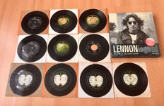 Beatles Lot: Lennon - Legend CD Book Including Many Private Documents + 10x The Beatles Related Singles