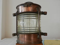 Very large heavy copper ships mast light  BT Corportation USA